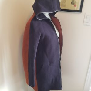JCREW size 0 /small wool coat with genuine leather